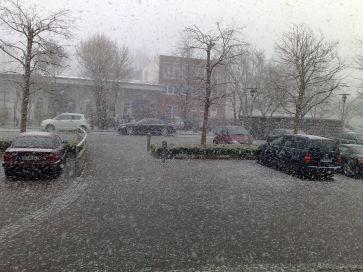 Schmuddel-Schnee-Wetter in Bremen